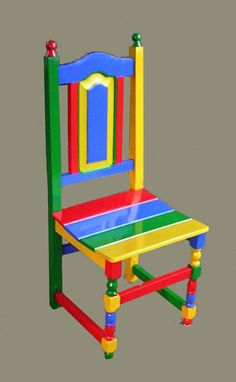 SILLA INTERVENIDA, pintura sintética sobre silla madera, 2011, DSCN3099.JPG
