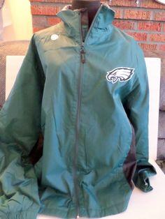 Philadelphia Eagles NFL jacket lightweight spring nylon mens XL tags attached #NFL #PhiladelphiaEagles