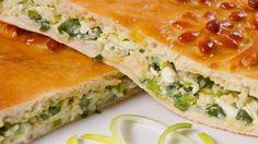 Пирог с зеленым луком и яйцами