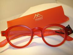 AUTH MONTANA VINTAGE DESIGNER PREPPY ROUND     READING GLASSES READERS RED 2.50 #Montana   $14.95   + $4.95 ship