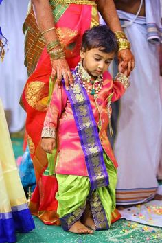Indian Ethnic wear -Pink Kurtha and green dhoti set Baby Boy Ethnic Wear, Kids Ethnic Wear, Kids Dress Collection, Men's Collection, Baby Boy Dress, Baby Dresses, Kids Dress Wear, Wedding Saree Collection, Boys Clothes Style