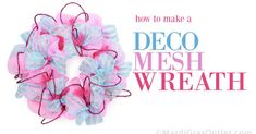 The results of ourfirst blog giveaway are in! Congratulations to  Missy Smith  who wins this fun pink and blue mesh wreath. Thank you t...
