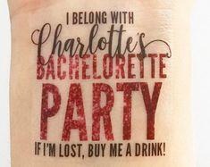 15 Custom Bachelorette Party Temporary Tattoos Glam by LoveAndLion