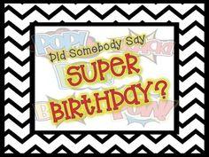 Superhero Birthday Wall for your superhero themed classroom! @brookesbundles
