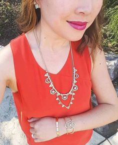 Merchandiser Kristiana shows us that two is better than one by layering our Portico Convertible Necklaces! #chloeandisabel