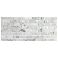 Offset Brick mosaic tile using Carrara polished marble. This is the classic small brick pattern mosaic size and shape, the proportions are perfected and maintained.