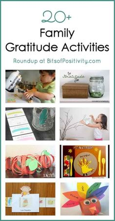Roundup of 20+ family gratitude activities for November, although many of the gratitude activities can be used at any time of the year. Part of the Festive Family Holiday Hop and Gift Guide Giveaway