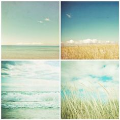 The Beach Collection set of four photographs . wall art collection . blue aqua turquoise . ocean seascape. coastal art . landscape . nature op Etsy, 37,45 €