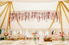 Beautiful decoration for a lovely wedding in our Oyster Pearl tent