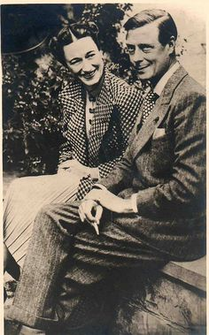 Edward Duke of Windsor with Mrs. Wallis Simpson by Miss Mertens, via Flickr