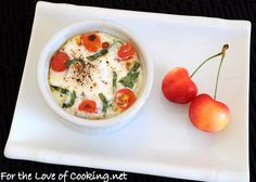 For the Love of Cooking » Caprese Baked Eggs AND a Giveaway (GIVEAWAY CLOSED – WINNER ANNOUNCED)