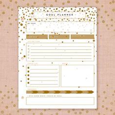 Printable Editable Goal Planner Goal Setting Goal by asamihasegawa