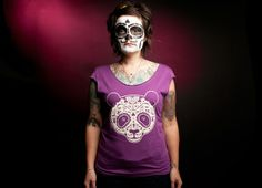 """Day of the Dead Panda"" - Threadless.com - Best t-shirts in the world"