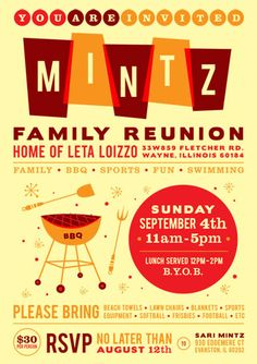 Ideas For Family Reunion Invitations with perfect invitation layout