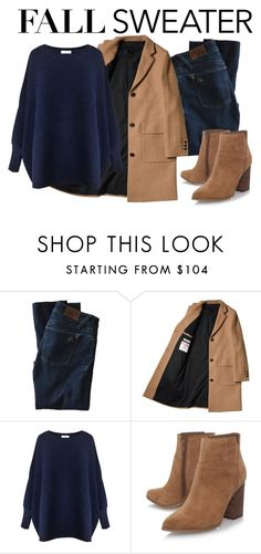 """""""Sweater Weather"""" by neringa-ltu ❤ liked on Polyvore featuring DL1961 Premium Denim, Paisie, Nine West and fallsweaters"""