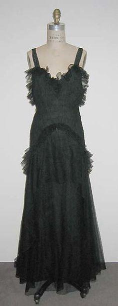 lucien lelong dress 1938 dislike the sleeves a lot designer
