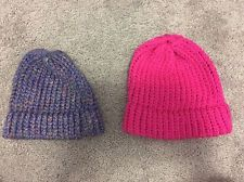 Handmade Lot of 2 Knitted Hats