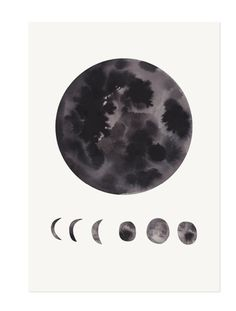 Phases of the Moon Print by The Adventures Of on Little Paper Planes.