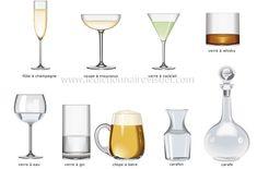 FLE- vocabulaire/ vocabulary Vaisselle- les verres/ Dishes- glasses