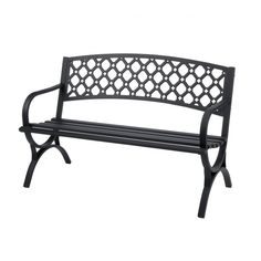 Comfort Park Avenue Recycled Plastic Park Bench 6 Feet FF . Garden Bench Build - No Drill No Saw All Easy Favorite . Design: Amazing Cast Iron Bench For Your Outdoor Seating . Metal Garden Benches, Outdoor Garden Bench, Patio Bench, Bench Cushions, Outdoor Decor, Outdoor Benches, Outdoor Areas, Outdoor Living, Pillows