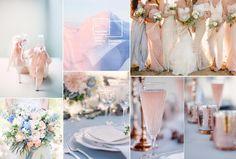 Pantone Rose Quartz and Serenity Wedding Color Inspiration