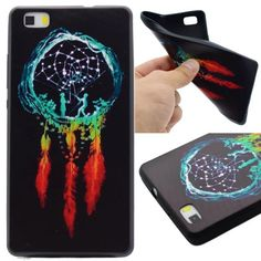 For Huawei P8 Lite Case Soft Black Silicone TPU Cover 3D Colorful Printing Shell For Huawei Ascend P8 Lite Coque Protective Skin