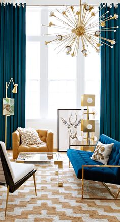 Best Interior Design Living Room Modern For Homes & Apartments Home Interior Design, Curtains Living Room, Living Decor, Living Room Interior, Modern Interior Design, Chandelier In Living Room, Mid Century Modern Living Room, Contemporary Home Decor, Living Room Design Modern