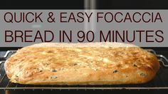 Quick & easy focaccia bread in 90 minutes
