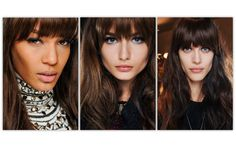 Top 20 Hair Trends Fall/Winter 2013 - 2014 Emilio Pucci  Long bangs created a 1960s style at Emilio Pucci. Hairstylist Luigi Murenu.