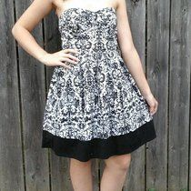 161023d333e Black and white strapless cotton dress from my personal collection. Has a  little elastic in