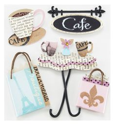 EK Success - Jolee's Boutique - Around the World Collection - 3 Dimensional Stickers with Epoxy Gem and Varnish Accents - Cafe at Scrapbook.com $4.39