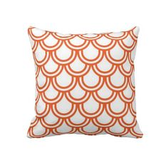 Orange Fish Scales Cushion Pillows