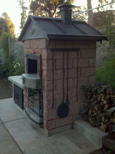 """The roof was fabricated out or metal steel roofing. The chimney and spark arrestor was hand fabricated by Leasure Concepts."""