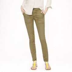 Love these! Great alternative to jeans. The slimming fit, flattering rise and enhancing back pocket flaps are fantastic.  Bought them in all 3 fabulously neutral colors. J.Crew - Skinny utility chino