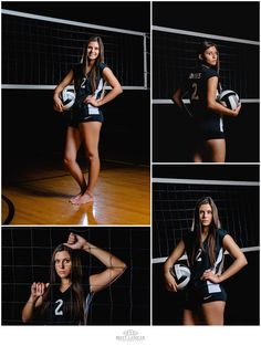 Volleyball Senior Picturess by Britt Lanicek Photography