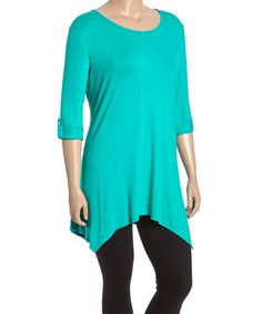 Another great find on #zulily! Jade Sidetail Tunic - Plus #zulilyfinds