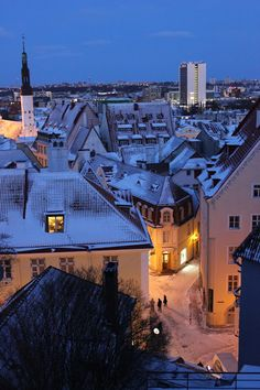 Tallinn, Estonia - I want to be on that corner right there on Christmas Eve.