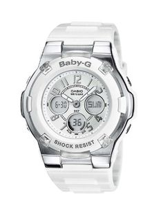 Casio BABY-G Ladies Analogue Digital Watch BGA-110-7BER with Resin Combi Strap: Casio: Amazon.co.uk: Watches