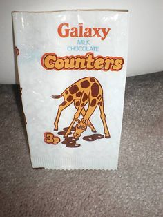 Galaxy Counters by Mars - Geoffrey the Giraffe pack. #galaxy #counters #mars #chocolate #confectionery #sweets #1970s