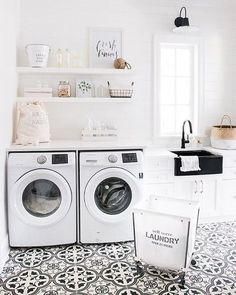 I really want a laundry room with a sink and cabinets and space to fold