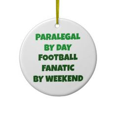 Paralegal by Day Football Fanatic by Weekend  #christmas #paralegal #holiday #gift