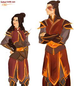 by kathuon: Siblings! Zuko, Azula (c) Bryke