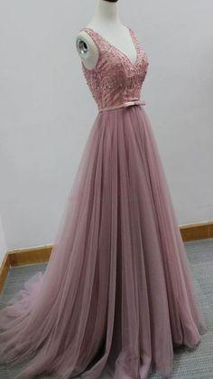 long prom dress,prom dresses,pink prom dress