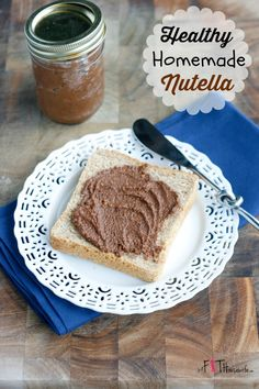 Healthy Homemade Nutella! So much healthier than store bought..but just as addicting!