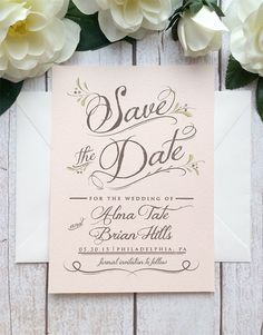 Elegant Wedding Save the Date Modern Elegant Classic and