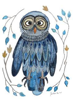 """Kunstdruck """"Eule"""" Art print *Owl*"""