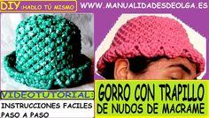 COMO HACER UN GORRO DE TRAPILLO CON NUDOS DE MACRAME TUTORIAL DIY