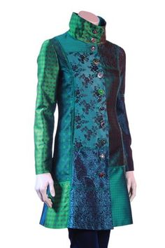 Desigual Dasha Coat - shorten this and it'd be a really nice showmanship jacket.