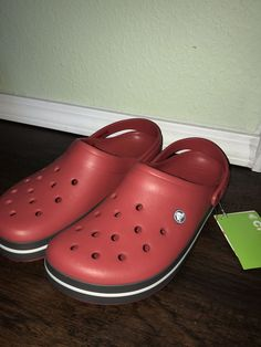 ab1dd601cf3f mens crocs size 11 Red  fashion  clothing  shoes  accessories  mensshoes