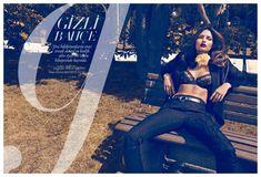 Alyssa Miller Sports Lingerie for Harpers Bazaar Turkeys October Cover Shoot by Koray Birand